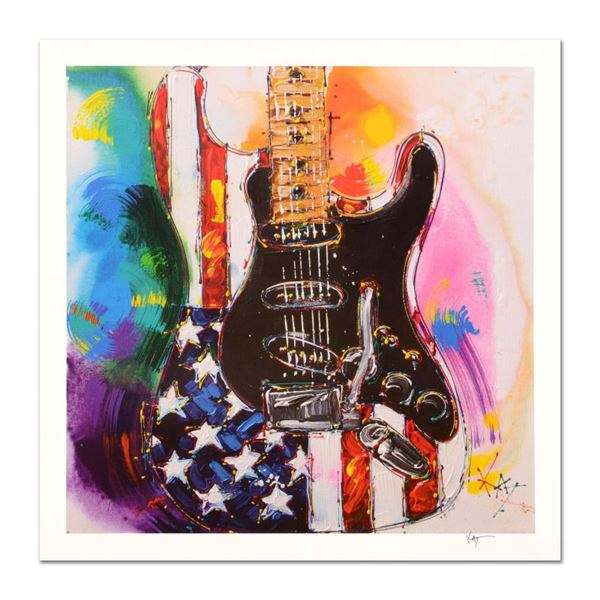 """Kat """"American Stratocaster"""" Limited Edition Lithograph on Paper"""