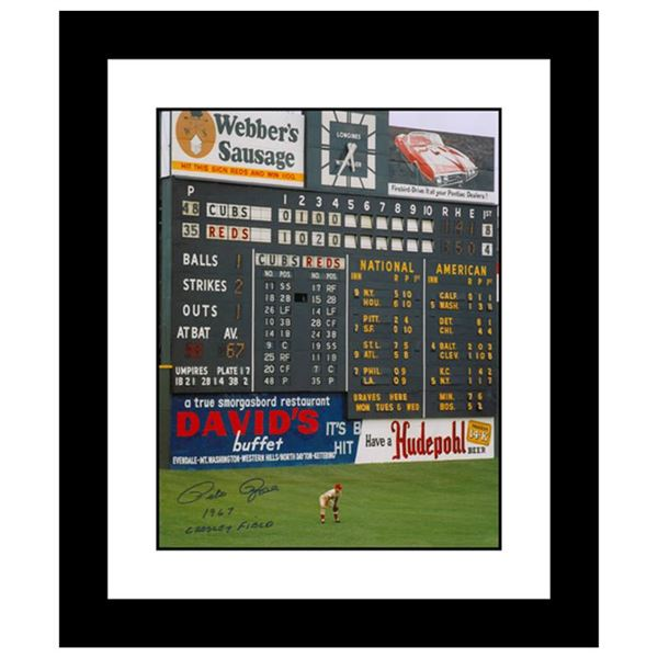 """""""Rose in Outfield at Crosley"""" Framed Archival Photograph"""