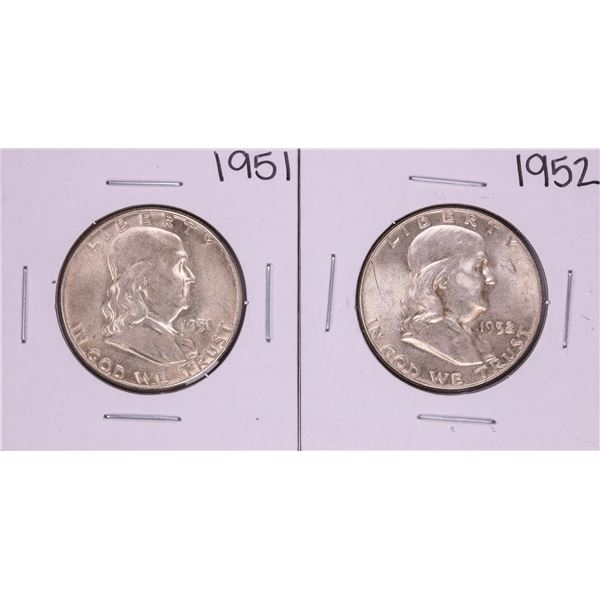 Lot of 1951-1952 Franklin Half Dollar Coins