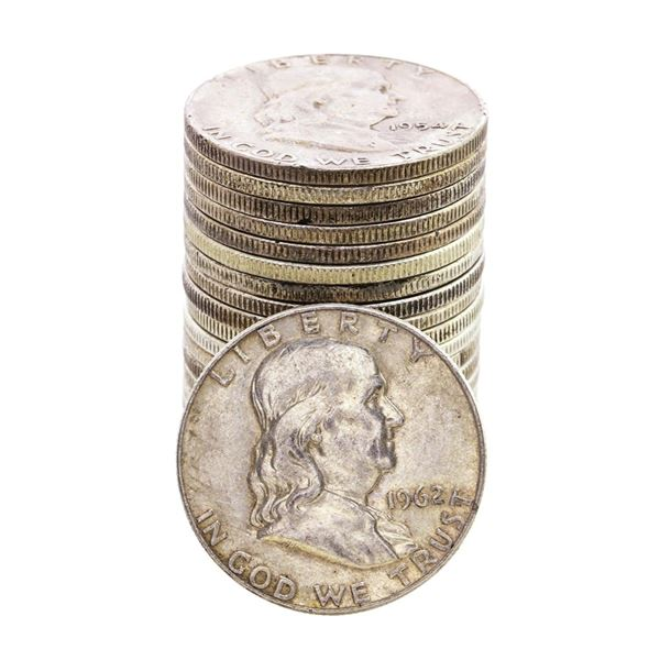 Roll of (20) Mixed Date Franklin Half Dollar Coins