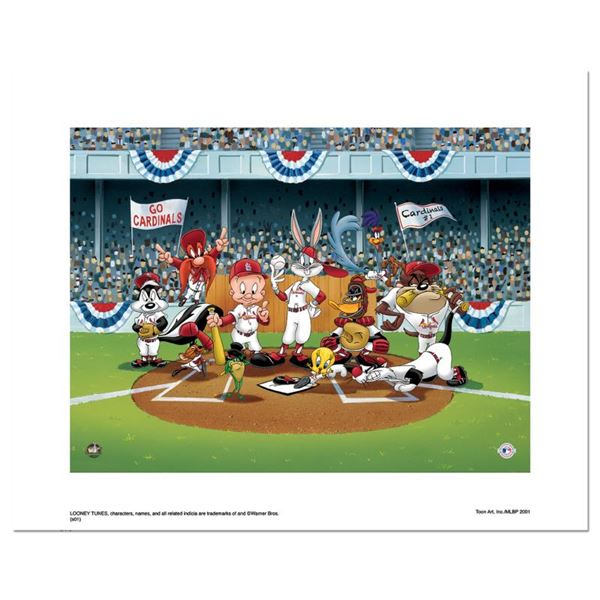 """Looney Tunes """"Line Up At The Plate (Cardinals)"""" Limited Edition Giclee on Paper"""