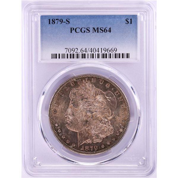 1879-S $1 Morgan Silver Dollar Coin PCGS MS64 Nice Toning