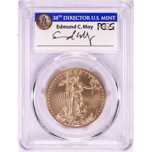 2017-W $50 Burnished American Gold Eagle Coin PCGS SP70 FDOI Washington D.C. Moy Signature