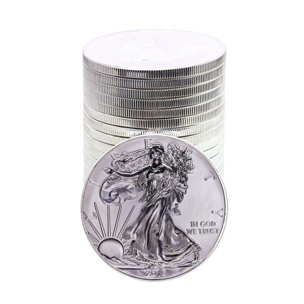 Roll of (20) Brilliant Uncirculated 2013 $1 American Silver Eagle Coins