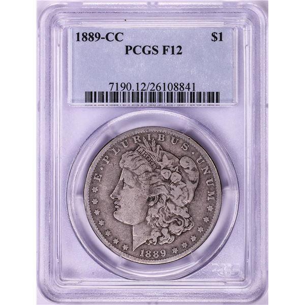 1889-CC $1 Morgan Silver Dollar Coin PCGS F12