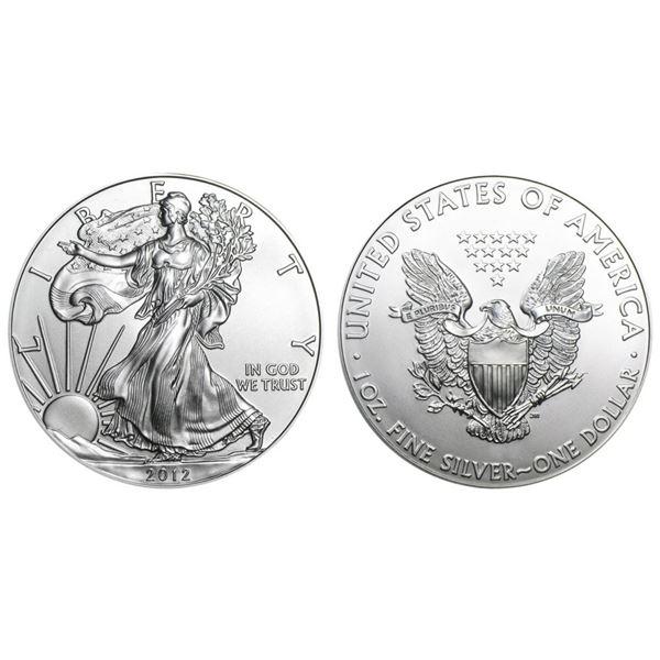 2012 American Silver Eagle .999 Fine Silver Dollar Coin