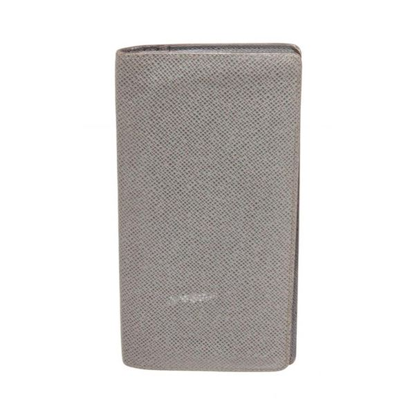 Louis Vuitton Grey Taiga Leather Brazza Wallet