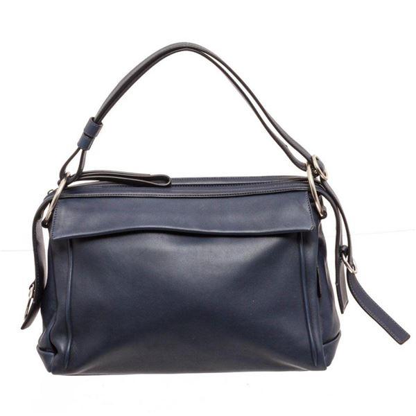 Marc Jacobs Navy Prism 34 Leather Shoulder Bag