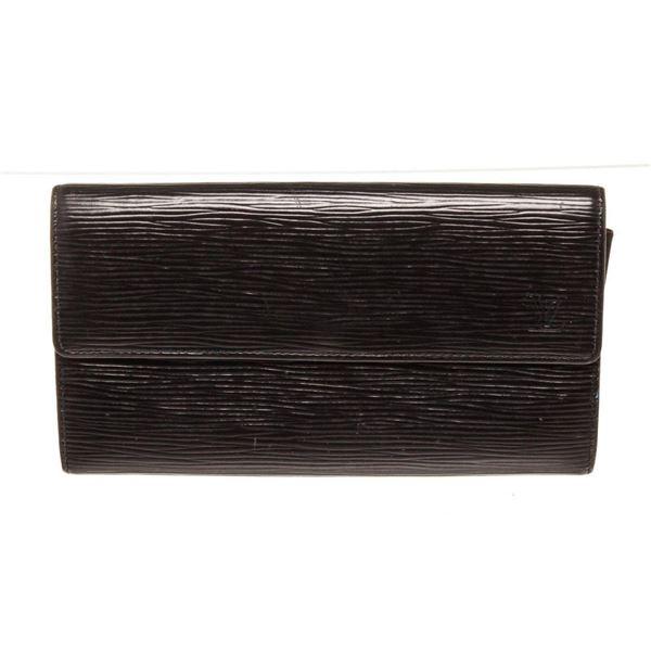 Louis Vuitton Black Epi Leather Sarah Wallet