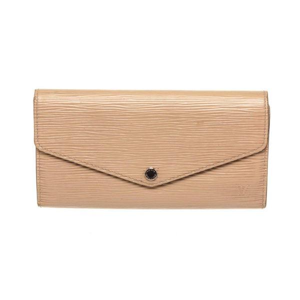 Louis Vuitton Cream NM Epi Leather Sarah Wallet