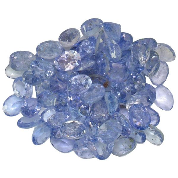 12.4 ctw Oval Mixed Tanzanite Parcel