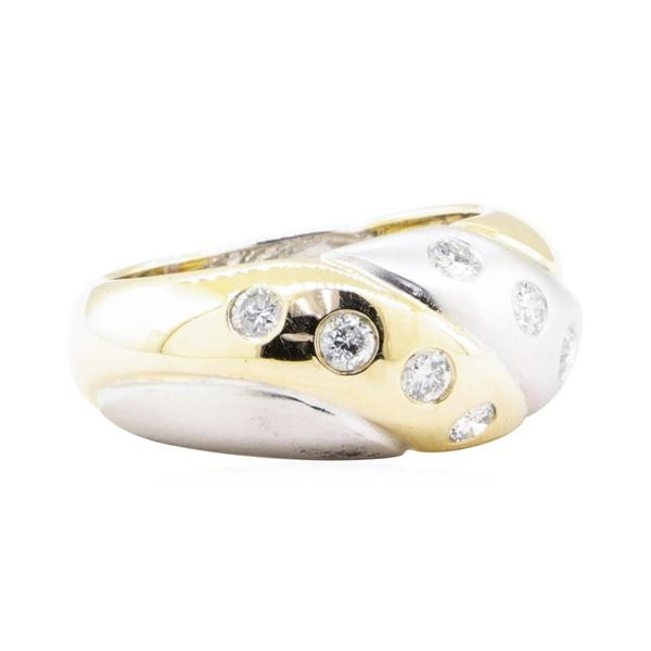 0.50 ctw Diamond Ring - 14KT Yellow And White Gold