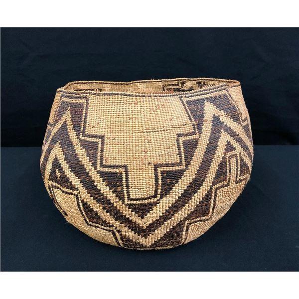 Large Antique Pit River Basket