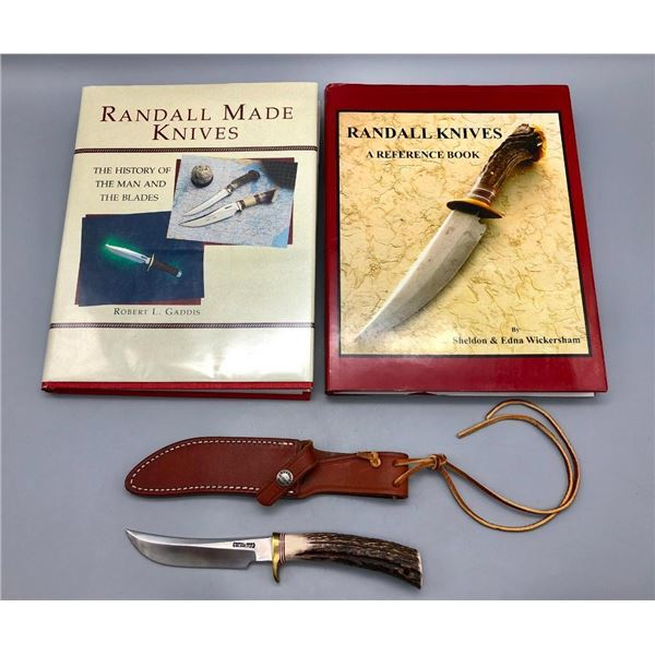 Randall Knife with Sheath and Two Books
