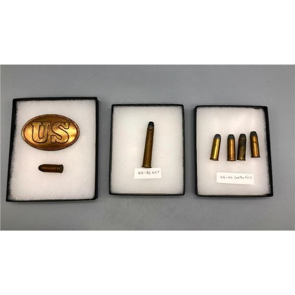 US Buckle and Bullets Display