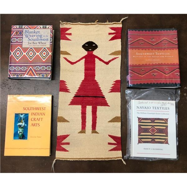 Vintage Navajo Textile and Group of Related Books