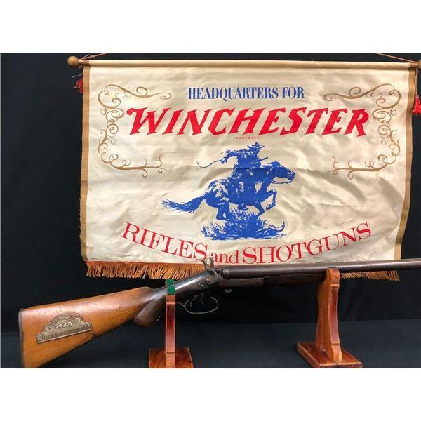 Antique Fantasy Coach Gun and Winchester Banner