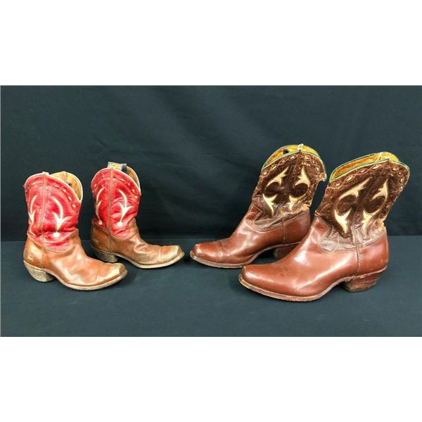Two Pairs of Vintage Cowboy Boots