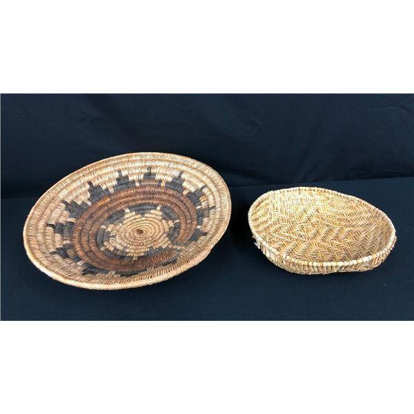 Vintage Navajo Wedding Basket and Hopi Sifter Basket