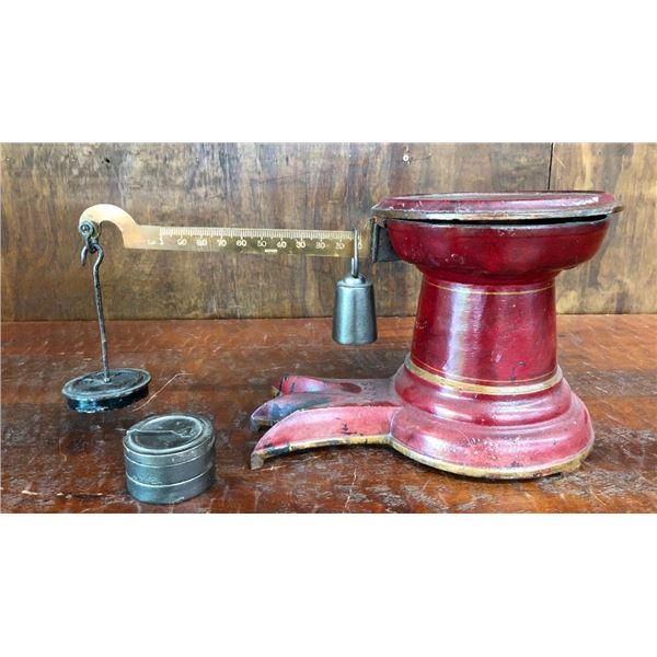 Antique Merchant's Countertop Scale