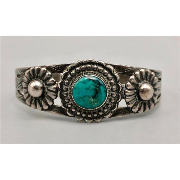 Charming Fred Harvey Era Turquoise Bracelet