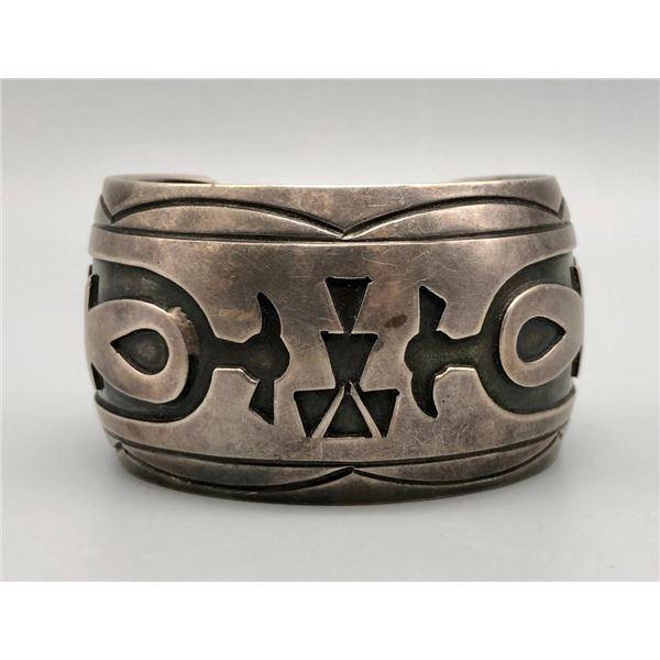 Wonderfully Wide Sterling Silver Overlay Bracelet