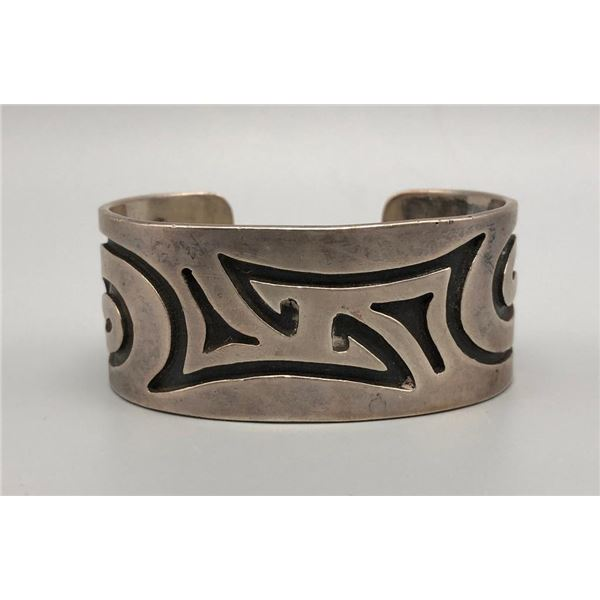 Sterling Silver Overlay Bracelet with Stylistic Designs