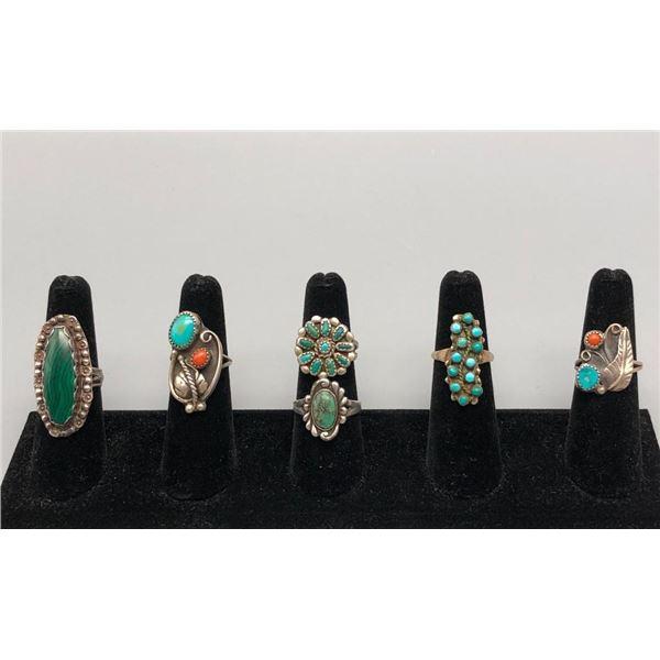 Group of Six Vintage Rings