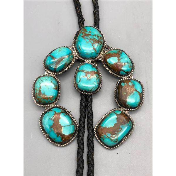 Unique Turquoise Naja Bolo Tie