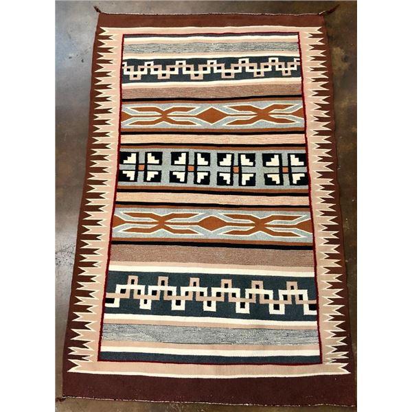 Vintage Navajo Textile with Unique Patterns