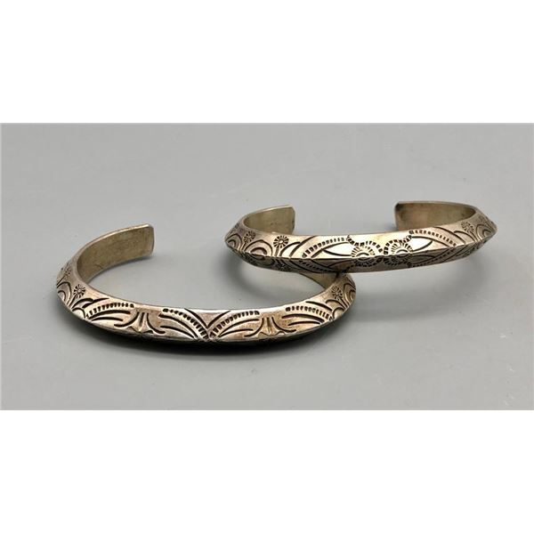 2 Heavy Duty Silver Bracelets