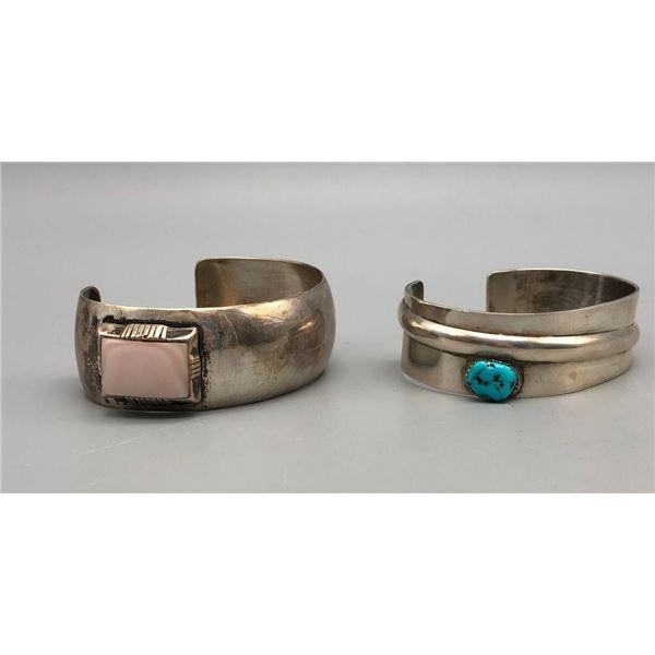 Two Unique Sterling Silver Bracelets