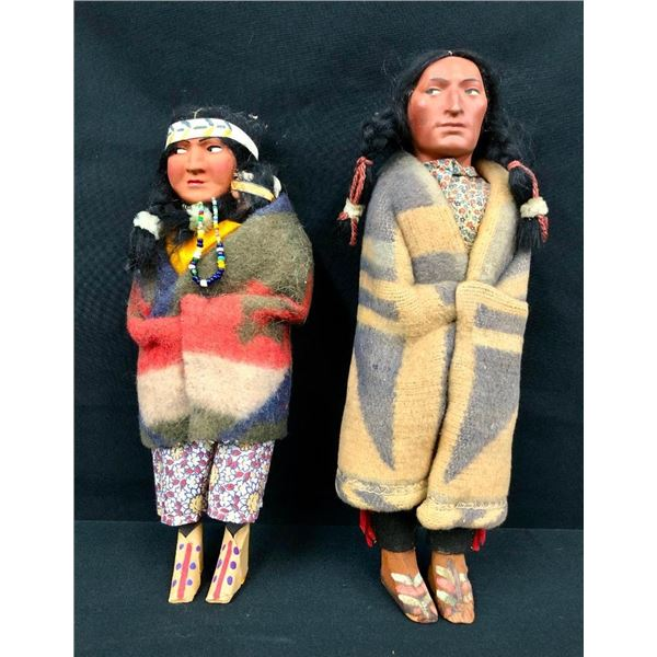Two Bully Good Skookum Dolls with Original Boxes