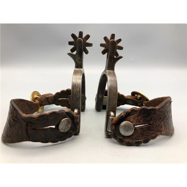 Old Pair of Wally Boone Spurs
