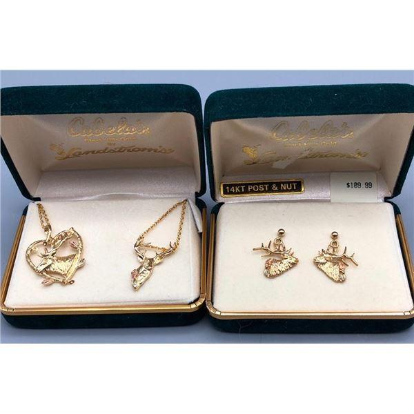 Black Hills Gold Jewelry- Elk Themed