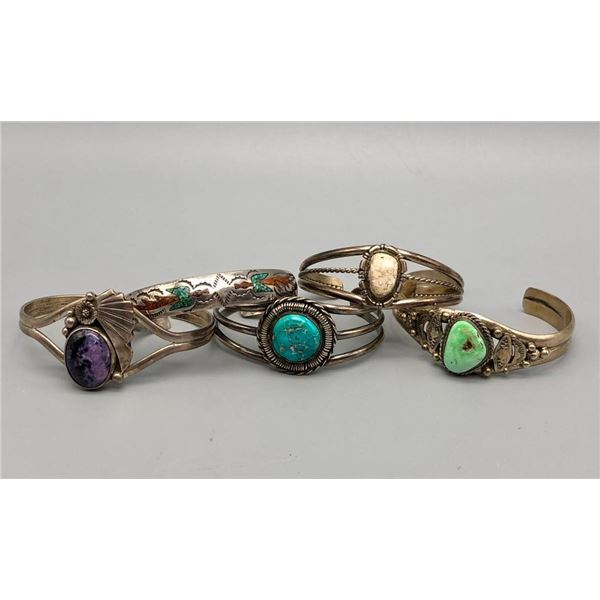 Group of Sterling Silver Bracelets