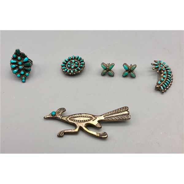 Group of Miscellaneous Vintage Jewelry- Mostly Zuni