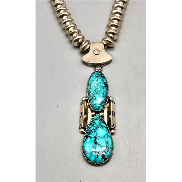 Jefferson Abeyta Turquoise and Sterling Silver Necklace