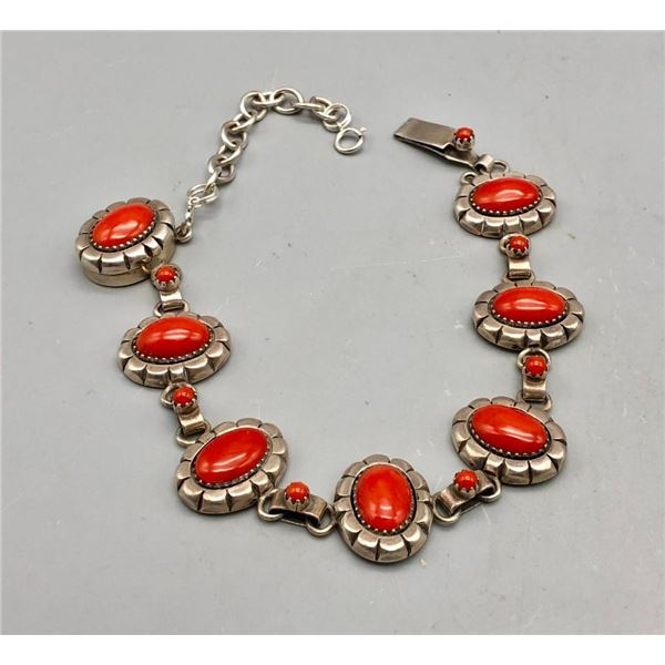 Coral Bracelet by Mary Marie Yazzie
