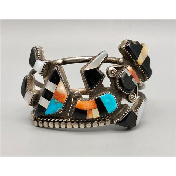 Zuni Rainbowman Inlay Bracelet
