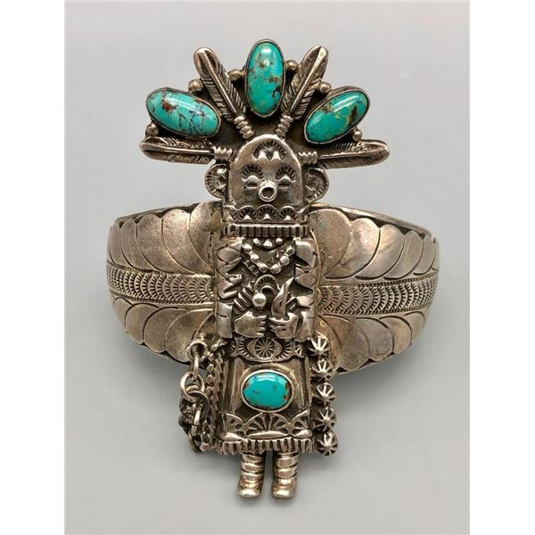 Robert Shakey Turquoise and Sterling Silver Bracelet