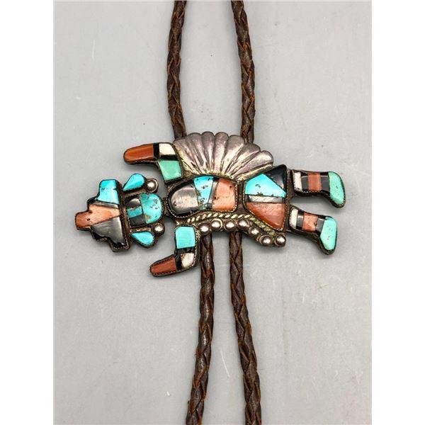 1950s Zuni Inlay Bolo Tie