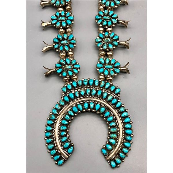 Cluster Squash Blossom Necklace by Victor Moses Begay