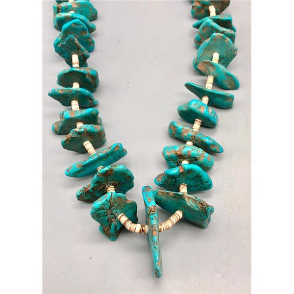 Vintage Turquoise and Heishi Necklace