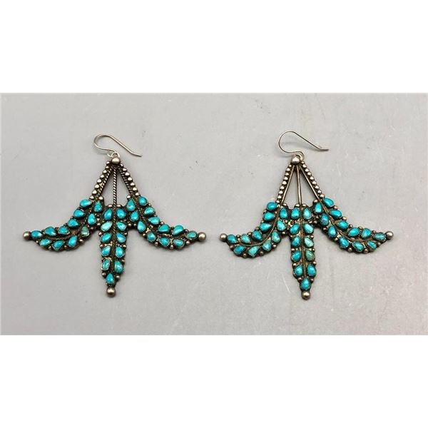 Sensational Vintage Turquoise Earrings