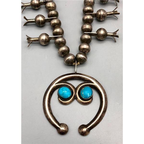 Nice Navajo Guild Squash Blossom Necklace