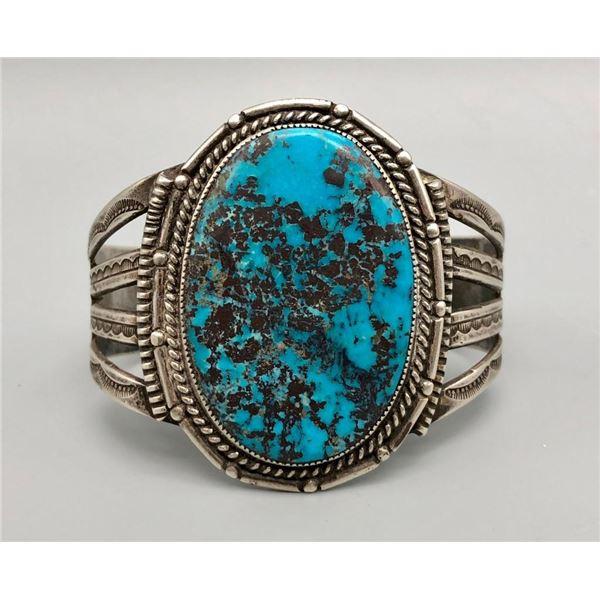 Super Turquoise and Sterling Silver Vintage Bracelet