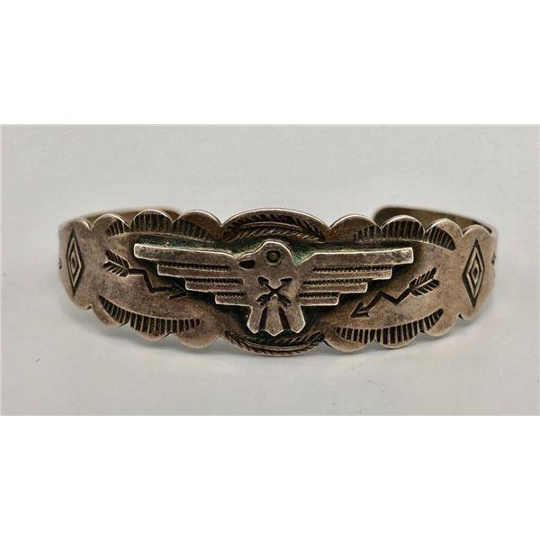 Great 1950s Sterling Silver Thunderbird Bracelet