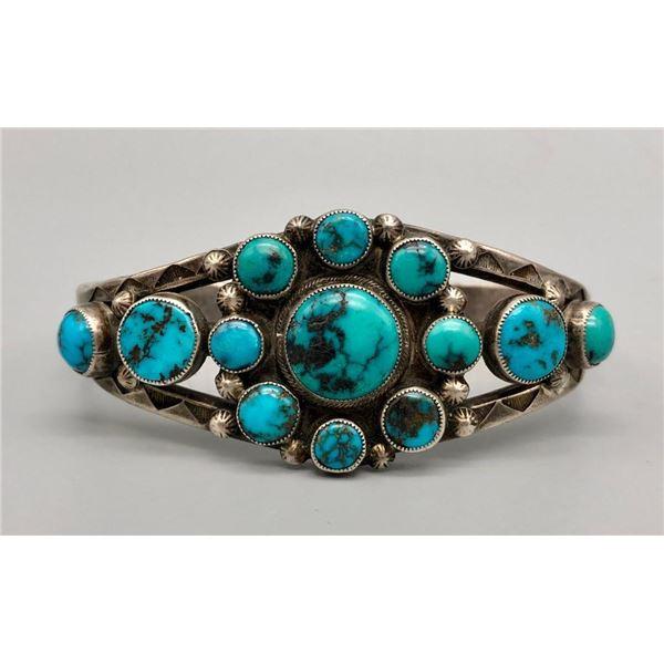 Awesome Ingot Turquoise Cluster Bracelet