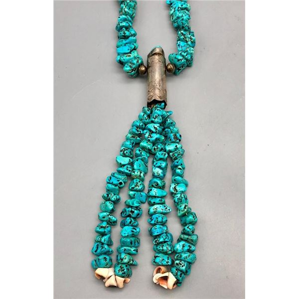 Turquoise Nugget Jocla Style Necklace